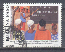 Burkina Faso YT N°767 Alphabétisation De Masse Oblitéré ° - Burkina Faso (1984-...)