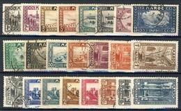 Marocco 1933 - 34 Serie N. 128-149 (23 Valori, Manca N. 138 C. 45) Usati Catalogo € 33 - Used Stamps