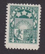 Latvia, Scott #115, Mint Hinged, Arms And Stars, Issued 1923 - Latvia