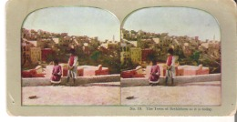 No. 19 The Town Of Bethlehem As It Is Today - Stereoscope Cards