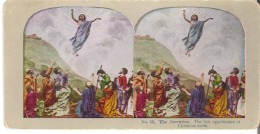 No. 12 The Ascension. The Last Appearance Of Christ On Earth.  Mark XVI : 19.  Luke XXIV : 51. - Stereoscope Cards
