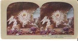 No. 17. The Resurrection. Christ Rising From The Tomb On The Third Day. Matthew XXVIII : 2, 4. - Stereoscope Cards