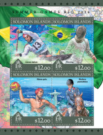 SOLOMON ISLANDS 2016 ** Water Polo Wasserball M/S - OFFICIAL ISSUE - A1645