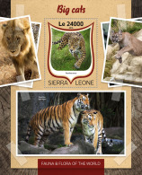 SIERRA LEONE 2016 ** Big Cats Großkatzen Raubkatzen Gros Chats S/S - OFFICIAL ISSUE - A1645 - Big Cats (cats Of Prey)