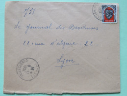 Algeria 1951 Cover Serpata To Lyon France - Arms Of Alger - Algeria (1924-1962)