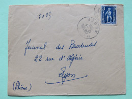 Algeria 1954 Cover Alger To Lyon France - Child With Eagle - Algeria (1924-1962)