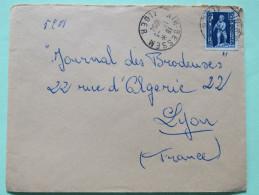 Algeria 1954 Cover Ain-Bessem Alger To Lyon France - Child With Eagle - Algérie (1924-1962)