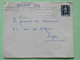 Algeria 1954 Cover Oran To Lyon France - Child With Eagle - Algeria (1924-1962)