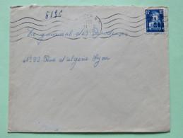 Algeria 1955 Cover Alger To Lyon France - Patio Of Bardo Museum - Algeria (1924-1962)