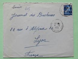 Algeria 1955 Cover Oran To Lyon France - Patio Of Bardo Museum - Algeria (1924-1962)