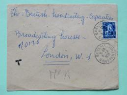 Algeria 1955 Cover Guelma To London - Patio Of Bardo Museum - Algeria (1924-1962)