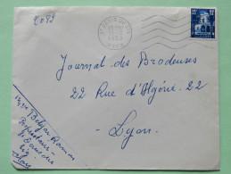 Algeria 1955 Cover Saint Denis Du Sig - Oran To Lyon France - Patio Of Bardo Museum - Algeria (1924-1962)