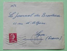Algeria 1957 Cover Meissonier - Alger To Lyon France - Marianne - Algeria (1924-1962)