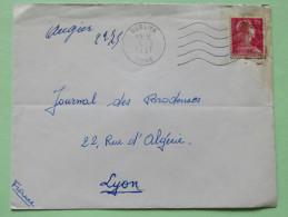 Algeria 1957 Cover Guelma Bone To Lyon France - Marianne - Algeria (1924-1962)
