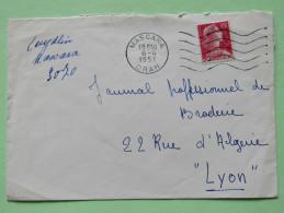 Algeria 1957 Cover Mascara Oran To Lyon France - Marianne - Algeria (1924-1962)