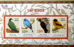 INDIA 2016 Birds Series-1 M/S 10nos. MINIATURE SHEETS MNH
