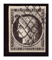 N° 3 Noir Sur Blanc Obl. - 1849-1850 Ceres