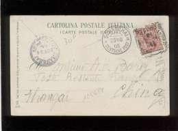 Carte Italienne Vers La Chine Cachet Shanghai Deutsche Post & Shanghai Local Post Adresse Poste Restante Française S - China