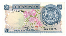 Singapore 1 Dollar, UNC.  Free Economic Ship. To USA - Singapore