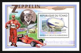 TCHAD - MICHAEL SCHUMACHER - FERRARI - ZEPPELIN - 1 BLOC FEUILLET NEUF ** - Cars