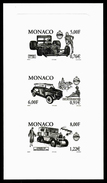MONACO - YT 2279à 2278 - 1 EPREUVE EN NOIR - FERRARI - FIAT - CITROEN - Voitures