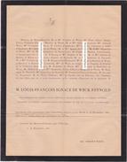 Faire-part Décès LOUIS De WECK REYNOLD. 1823-1880. Officier, Homme D'état, Agronome. Fribourg, Suisse. - Décès