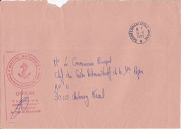 France, MARINE NATIONALE,FUSILLIERS MARINS,OFFICIEL,1989 ( MAR12) - Postmark Collection (Covers)