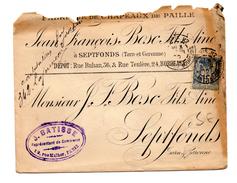 ENVELOPPE DE PARIS POUR SEPTFONDS DU 03/04/1900 - Marcophilie (Lettres)