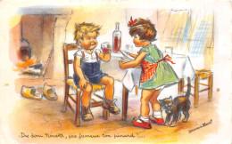 """¤¤  -  Illustrateur """" Germaine BOURET """" -  Dis Donc Nénette , Pas Fameux Ton Pinard  -  Chat     -  ¤¤ - Bouret, Germaine"""
