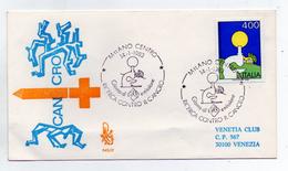 Italia - 1983 - Busta FDC - Ricerca Contro Il Cancro - Con Doppio Annullo Filatelico Milano - (FDC1762) - FDC
