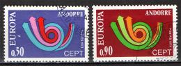 ANDORRA FRANCESE - 1973 - EUROPA UNITA - CEPT - USATI