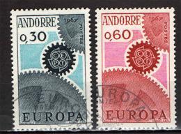 ANDORRA FRANCESE - 1967 - EUROPA UNITA - CEPT - USATI