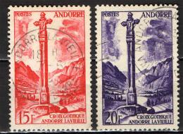 ANDORRA FRANCESE - 1955 - CROCE GOTICA DI MERITXELL - USATI
