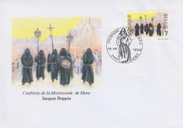 Enveloppe 1999 N° 2824 Avec FDC(prévente) - Confrérie De La Miséricorde De Mons - 03 - 1991-00
