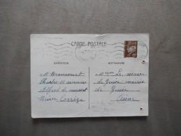 BRIVE LA GAILLDE 18 XI 41 CARTE POSTALE PETAIN 80c - 1921-1960: Période Moderne