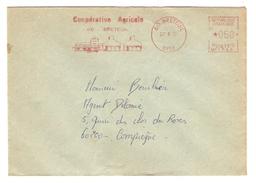 LETTRE EMA BRETEUIL OISE 27/8/1973 COOPÉRATIVE AGRICOLE BRETEUIL POUR COMPIEGNE - 2 Scans - EMA (Empreintes Machines à Affranchir)
