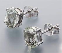 Orecchini In Argento 925 Sterling Con Prasioliti             . - Earrings