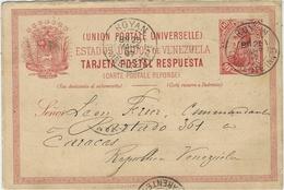1897- étonnante C P E P   Réponse Du Venezuela  Oblitérée De ROYAN ( Char. Mar. )  Pour Caracas - 1877-1920: Semi Modern Period
