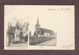 DANJOUTIN église Et Monument Aux Défenseurs De Danjoutin  Territoire De Belfort 90400 Cp Année 1901