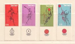 ISRAEL  ( D17 - 7822 )   1964  N° YVERT ET TELLIER  N°255/258   N** - Israel