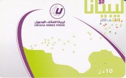 TARJETA DE LIBIA DE 10 UNITS (LIBYANA MOBILE) - Libye