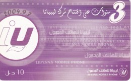 TARJETA DE LIBIA DE 10 UNITS (LIBYANA MOBILE) - Libië