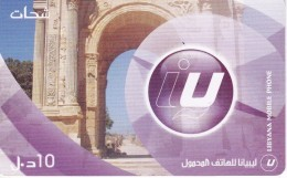 TARJETA DE LIBIA DE 10 UNITS DE UN ARCO  (LIBYANA MOBILE) - Libye