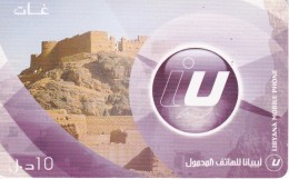 TARJETA DE LIBIA DE 10 UNITS DE UN CASTILLO - CASTLE (LIBYANA MOBILE)