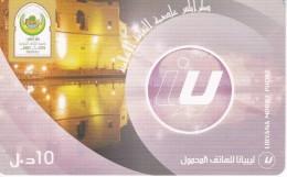 TARJETA DE LIBIA DE 10 UNITS DE TRIPOLI (LIBYANA MOBILE)