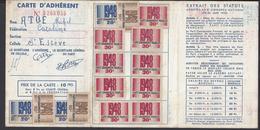 FR - 1948 - Carte D'Adhérent Au Parti Communiste Français - Fédération Des Pyrénées Orientales - - Mappe