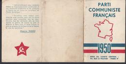 FR - 1950 - Carte D'Adhérent Au Parti Communiste Français - Fédération Des Pyrénées Orientales - - Mappe