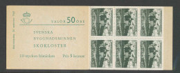 SUEDE 1962 - CARNET  YT C496a - Facit H150 - Neuf ** MNH - Monuments Nationaux - Carnets