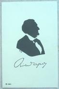 LITHO  Illustrateur  W.B.  W. BITHORN PORTRAIT Silhouette OMBRE Profil Homme Musicien Compositeur Richard Wagner - Silhouettes