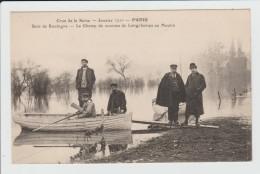 PARIS - SEINE - CRUE DE LA SEINE - JANVIER 1910 - INONDATION - BOIS DE BOULOGNE - LE CHAMP DE COURSES LONGCHAMPS MOULIN - La Crecida Del Sena De 1910